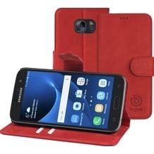 Bugatti BookCover Madrid für Samsung Galaxy S7, Rot