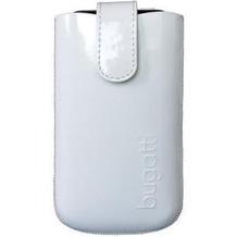Bugatti SlimCase Leather Glossy White Size ML, glanz-weiß