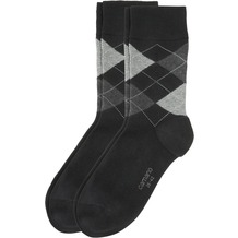 Camano Men Fashion Socks Argyle 2er Pack fog 39/42