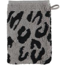 cawö Instinct Leopard Waschhandschuh anthrazit 16x22 cm