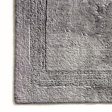 cawö Wende-Badteppich graphit 60 cm x 60 cm