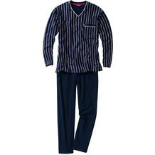 Ceceba Pyjama, V-Ausschnitt Navy Langgröße 102