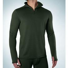 Ceceba Shirt, 1/1 Arm  m. Zipperkragen olive Übergröße 3XL