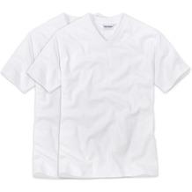 Ceceba V-Shirt 1/2-Arm Doppelpack weiss 48/S