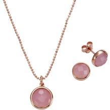 Celesta 3tlg. Set 925/- Sterling Silber pink/rosé