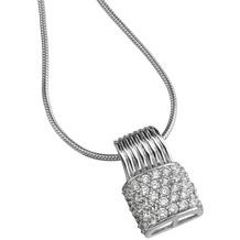 Celesta Anhänger mit Kette 925/- Sterling Silber weiß