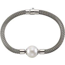 Celesta Armschmuck 925/- Sterling Silber Perle Silbergrau