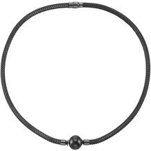 Celesta Collier 925/- Sterling Silber Perle schwarz