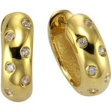 Celesta Creolen 925/- Sterling Silber gelb