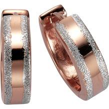 Celesta Creolen 925/- Sterling Silber rot