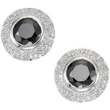 Celesta Ohrstecker 925/- Sterling Silber schwarz