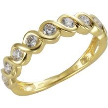 Celesta Gold Ring 375/- Gelbgold Zirkonia 54 (17,2)