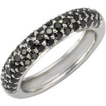 Celesta Ring 925/- Sterling Silber Zirkonia schwarz 54 (17,2)