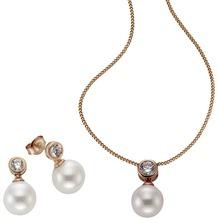 Celesta 3tlg. Set 925/- Sterling Silber Perlen rot