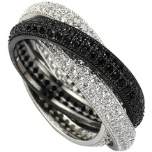 Celesta Ringe in der Farbe schwarz  Hertie.de