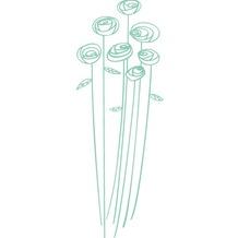 cuadros Walltattoo Blumen, mint, 40x110 cm