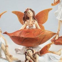Dekofigur Elfe 14 x 16 x 14 cm, mit Schale
