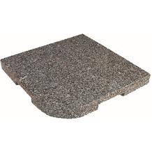 Delschen Granit-Beschwerungsplatte, grau, 25 kg, L 48 x B 48 cm