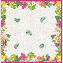 Duni Mitteldecke Motiv Bahamas Floral 84 x 84 cm 1 Stück