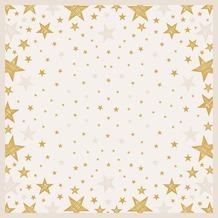 Duni Duni Mitteldecke Shining Star Cream 84 x 84 cm