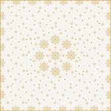 Duni Duni Mitteldecke X-Mas Deco Cream 84 x 84 cm