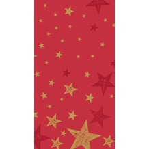 Duni Duni Tischdeckenrolle Shining Star Red 120 cm x 5 m