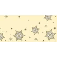Duni Mitteldecken aus Dunicel 84 x 84 cm Glittering Stars cream, 20 Stück