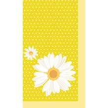 Duni Mitteldecken aus Dunicel 84 x 84 cm My Daisy Yellow