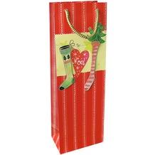 Duni Flaschentüten 12,3x36,2x7,8cm Holly Jolly Socks
