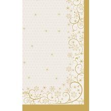 Duni Mitteldecken aus Dunicel Motive 84 x 84 cm Ornate Xmas Cream