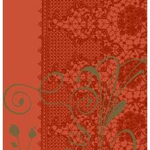 Duni Servietten 3lagig aus Zelltuch Lea mandarin, 33 x 33 cm, 1/4 Falz,  50 Stück