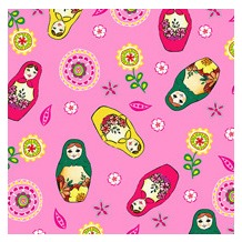 Duni Servietten 3lagig Tissue Motiv Little Dolls, 33 x 33 cm, 20 Stück