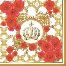 Duni Servietten Glööckler Motiv Royal Rose, Dunilin® 40 x 40 cm 12 Stück