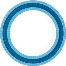 Duni Teller aus Pappe laminiert, Motiv BBQ Blue Line, ø 22 cm, 10 Stück