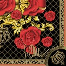 Duni Tissue Designs for Duni Servietten Glööckler Motiv Black Rose 33 x 33, 20 Stück