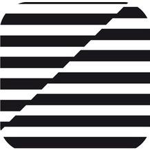 Duni Untersetzer eckig, 8,5x8,5cm 8lg. Black & White