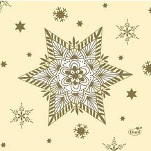 Duni Zelltuch-Servietten 24x24 cm 3lg 1/4 Glittering Stars cream, 50 Stück