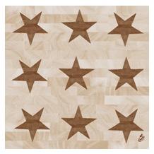 Duni Zelltuch-Servietten 40x40 cm 3lg 1/4 Wood Star, 250 Stück