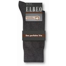 ELBEO 3er Socke Herren Cotton schwarz/schwarz 39-42