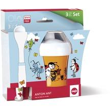 emsa Kindergeschirr Baby-Set ANTON ANT 3-teilig, Schale, Futterlöffel, Trinklernbecher