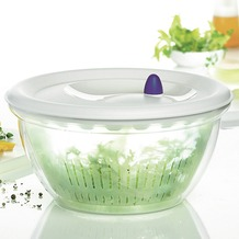 emsa Salatschleuder FIT & FRESH, Transparent/Weiß, 4,00 Liter