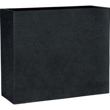 ESTERAS Pflanzgefäßeset Dalfsen Black 65x25x55 cm
