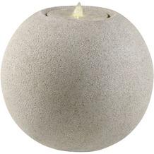 ESTERAS Zimmerbrunnen Boya Stone Sand (Outdoor geeignet) Ø41x36 cm