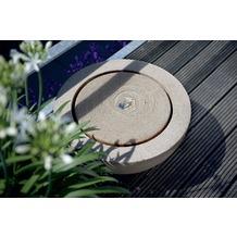 ESTERAS Zimmerbrunnen Loa Stone Sand (Outdoor geeignet) Ø57x30 cm