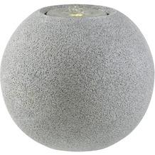 ESTERAS Zimmerbrunnen Meco Stone Granite Grey (Outdoor geeignet) Ø41x36 cm