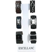 Excellanc Uhren-Ständer für 6 Uhren, weiß - weiß