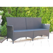 gartenbank mit polyrattan gestell. Black Bedroom Furniture Sets. Home Design Ideas