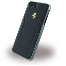 Ferrari 488 Gold - Leder Hardcover - Apple iPhone 7 Plus - Schwarz