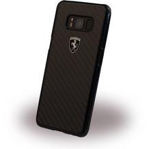 Ferrari Heritage - Real Carbon Hardcover - Samsung Galaxy S8 Plus - Schwarz