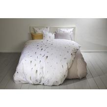 Fischbacher Bettbezug 258 Le Piume weiß 10 bedruckt Decken 135 x 200 cm
